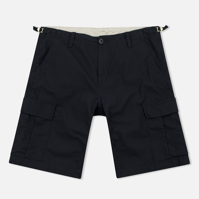 Мужские шорты Carhartt WIP Aviation Columbia Ripstop 6.5 Oz Black Rinsed