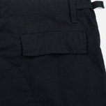 Мужские шорты Carhartt WIP Aviation Columbia Ripstop 6.5 Oz Black Rinsed фото- 3