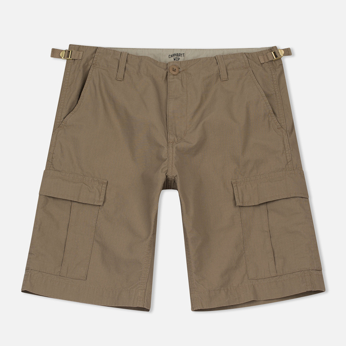 Мужские шорты Carhartt WIP Aviation Columbia Ripstop 6.5 Oz Leather Rinsed