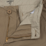 Мужские шорты Carhartt WIP Aviation Columbia Ripstop 6.5 Oz Leather Rinsed фото- 1