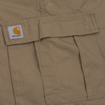 Мужские шорты Carhartt WIP Aviation Columbia Ripstop 6.5 Oz Leather Rinsed фото- 3