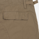 Мужские шорты Carhartt WIP Aviation Columbia Ripstop 6.5 Oz Leather Rinsed фото- 4