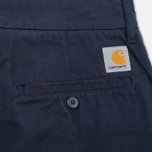 Мужские шорты Carhartt WIP Johnson Twill 7 Oz Duke Blue Garment Dyed фото- 3