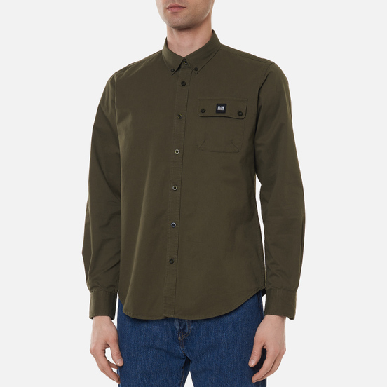 Мужская рубашка Weekend Offender Postiano Dark Sage Green