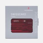 Швейцарская карта Victorinox Classic 0.7100.T Ruby фото- 2