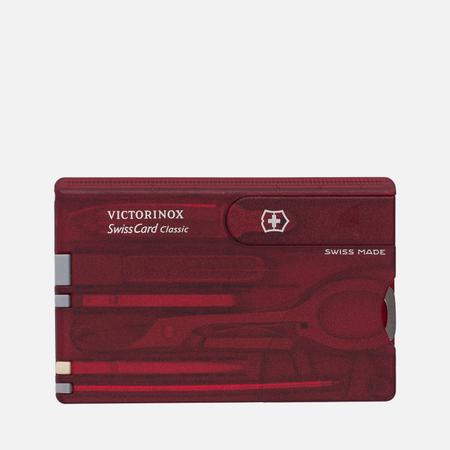 Швейцарская карта Victorinox Classic 0.7100.T Ruby