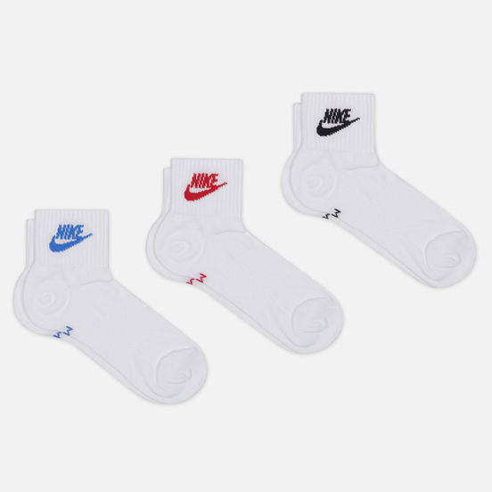 Комплект носков Nike 3-Pack Everyday Essential Ankle White/Multi-Color