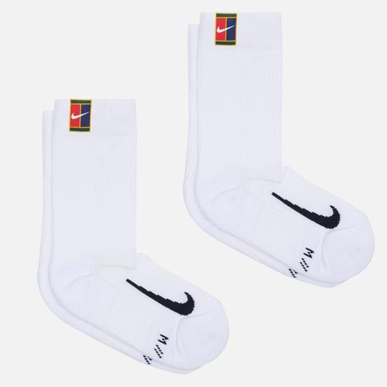 Комплект носков Nike 2-Pack Multiplier Crew Cushioned White/White