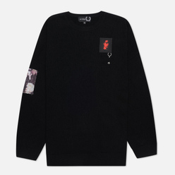 Мужской свитер Fred Perry x Raf Simons Oversized Printed Patch Black