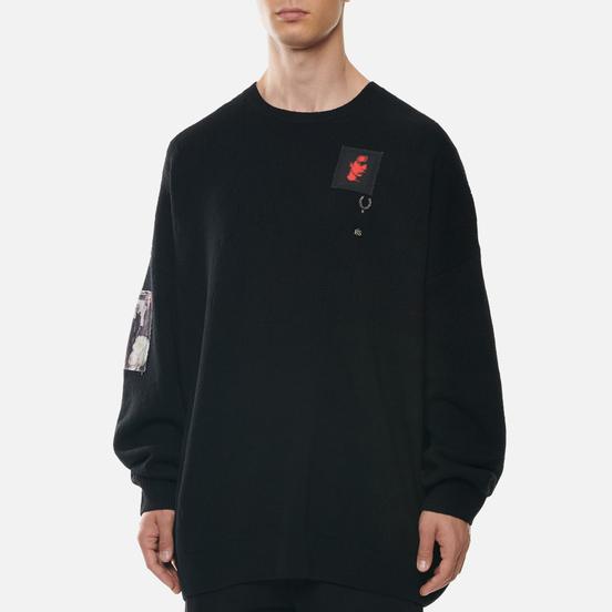 Мужской свитер Fred Perry x Raf Simons Oversized Printed Patch Black