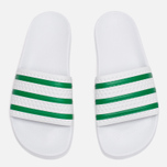 Сланцы adidas Originals Adilette Running White/Green фото- 2