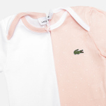 Набор детских пижам Lacoste Baby Girl 2 Sleepsuits Nymph/White фото- 2