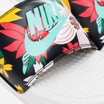 Женские сланцы Nike Benassi JDI Print Sail/Black/Artisan Teal фото- 5