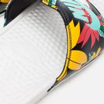 Женские сланцы Nike Benassi JDI Print Sail/Black/Artisan Teal фото- 6