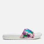 Женские сланцы Nike Benassi JDI Print Sail/Purple/Pink Glaze фото- 0
