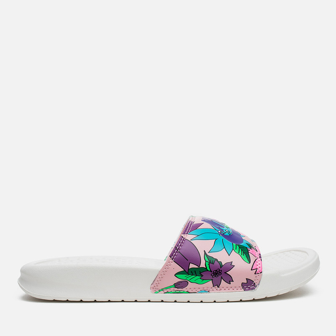 Женские сланцы Nike Benassi JDI Print Sail/Purple/Pink Glaze
