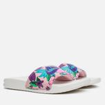 Женские сланцы Nike Benassi JDI Print Sail/Purple/Pink Glaze фото- 1