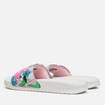 Женские сланцы Nike Benassi JDI Print Sail/Purple/Pink Glaze фото- 2