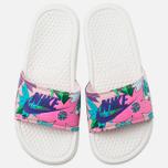 Женские сланцы Nike Benassi JDI Print Sail/Purple/Pink Glaze фото- 4