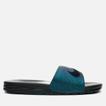 Nike Benassi Solarsoft SLD2 WC QS Women's Slides Teal/Black/Vapor Green photo- 0
