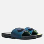 Nike Benassi Solarsoft SLD2 WC QS Women's Slides Teal/Black/Vapor Green photo- 1
