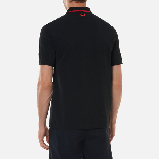 Мужское поло Fred Perry x Raf Simons Tipped Chest Patch Black
