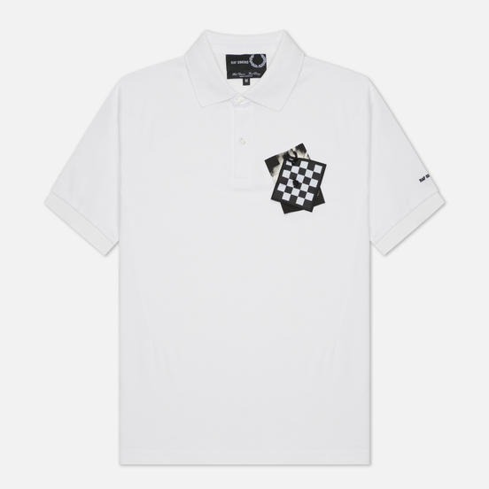 Мужское поло Fred Perry x Raf Simons Chest Patch White