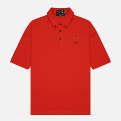 Мужское поло Fred Perry x Raf Simons Button Down Lipstick Red
