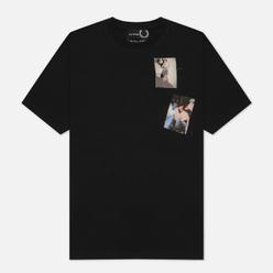 Мужская футболка Fred Perry x Raf Simons Printed Patch Black