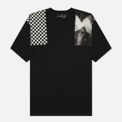 Мужская футболка Fred Perry x Raf Simons Oversized Printed Patch Black