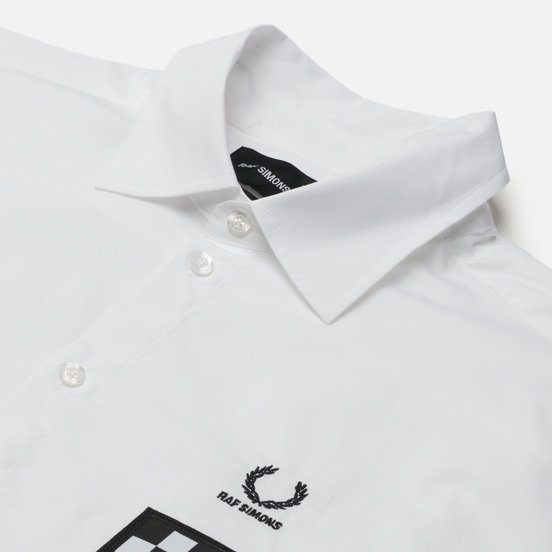 Мужская рубашка Fred Perry x Raf Simons Oversized Printed Patch White