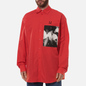 Мужская рубашка Fred Perry x Raf Simons Oversized Printed Patch Lipstick Red фото - 3