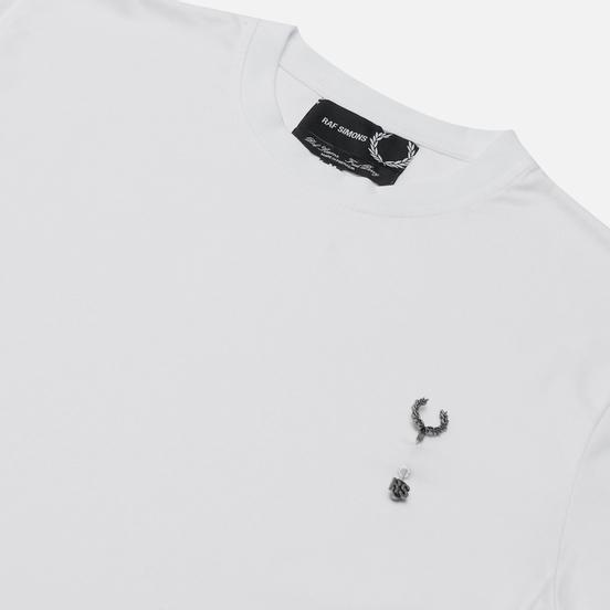 Мужская футболка Fred Perry x Raf Simons Laurel Wreath Pin Detail White