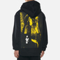 Мужская толстовка Fred Perry x Raf Simons Printed Patch Hoodie Black фото - 4