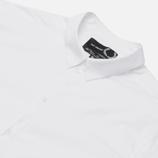 Мужская рубашка Fred Perry x Raf Simons Embroidered Cuff Slim Fit White