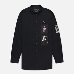 Мужская рубашка Fred Perry x Raf Simons Oversized Printed Patch Black