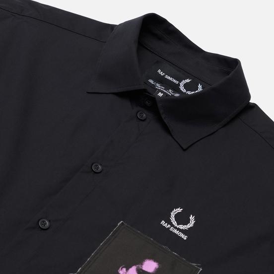 Мужская рубашка Fred Perry x Raf Simons Oversized Printed Patch Black