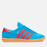 Кроссовки adidas Originals Hamburg Solar Blue/Red/Gum фото- 0