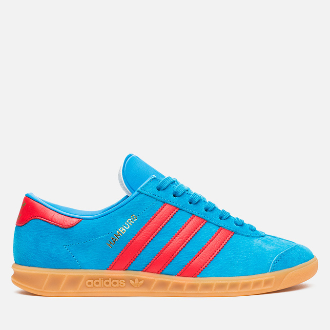 Кроссовки adidas Originals Hamburg Solar Blue/Red/Gum