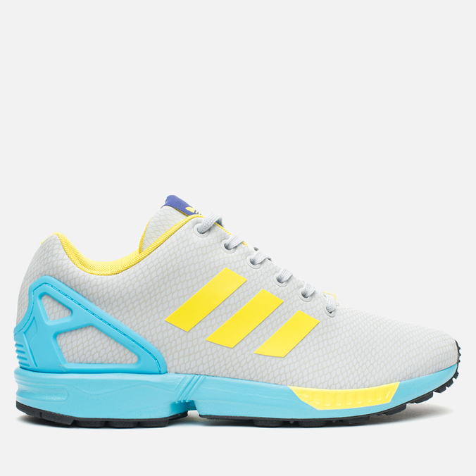 Мужские кроссовки adidas Originals ZX Flux GID Clear Grey/Yellow/Bright Cyan