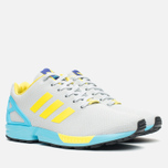 Мужские кроссовки adidas Originals ZX Flux GID Clear Grey/Yellow/Bright Cyan фото- 1