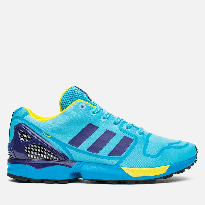 Кроссовки adidas Originals ZX Flux Techfit Aqua OG Bright Cyan/Collegiate Purple