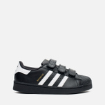 Детские кроссовки adidas Originals Superstar Foundation CF C Black/White фото- 0