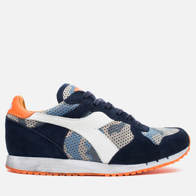 Diadora Heritage Trident Camo Perf Men's Sneakers Blue Denim/White
