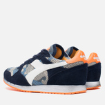 Diadora Heritage Trident Camo Perf Men's Sneakers Blue Denim/White photo- 2