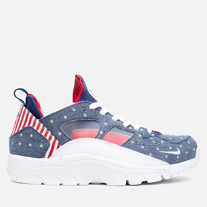 Мужские кроссовки Nike Air Trainer Huarache Low QS USA Denim Royal Blue/White/Gym Red
