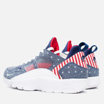 Мужские кроссовки Nike Air Trainer Huarache Low QS USA Denim Royal Blue/White/Gym Red фото- 2