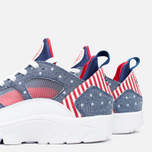 Мужские кроссовки Nike Air Trainer Huarache Low QS USA Denim Royal Blue/White/Gym Red фото- 7