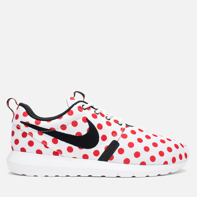Мужские кроссовки Nike Roshe NM QS Polka Dot White/Black/Action Red