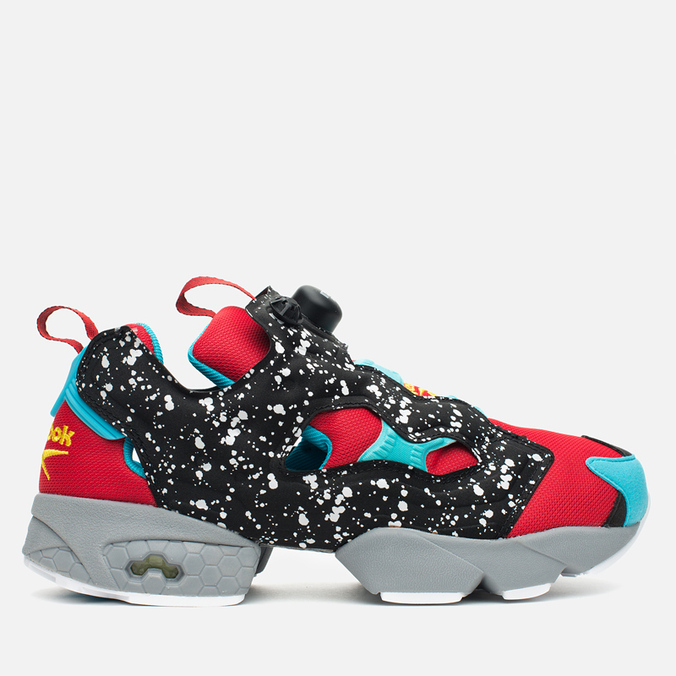 Мужские кроссовки Reebok Instapump Fury Splatter Pack Red/Black/Blue/Grey